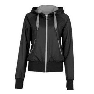Lululemon Black Gray Swell Jacket sz 4 Reversible